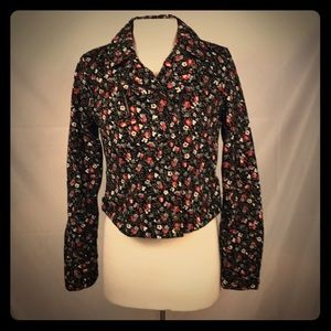 Anthropologie Hei Hei Floral Moto Jacket